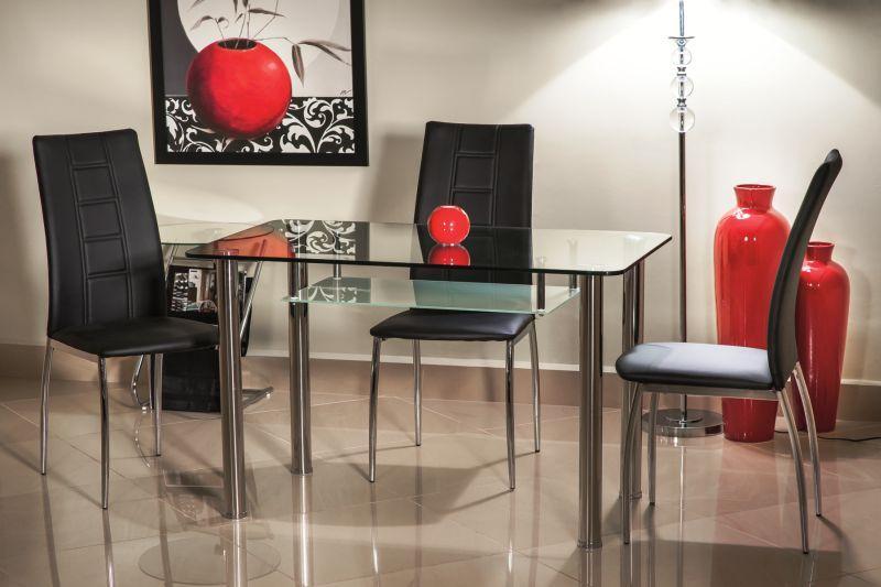 Стіл скляний кухонний обідній на кухню кухонна HEKTOR 120x70 (Signal)
