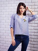 Очень женственная блуза с трендовым принтом в полоску