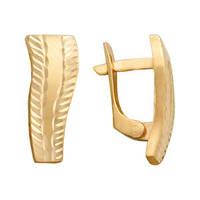 Сережки Золотые с Алмазной гранью