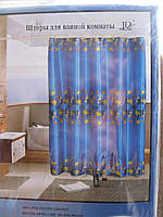 Штора для ванной цветная, фото 1