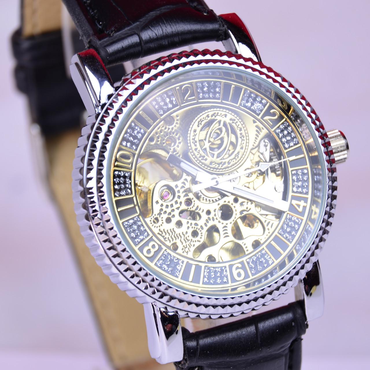 Мужские часы Слава с автоподзаводом (скелетоны)