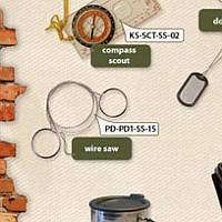 Пила-струна с кольцами ||PD-PD1-SS-15