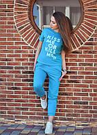 Летний костюм брюки и футболка KISS, фото 1