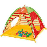 Палатка детская + 40 разноцветных шариков Bestway 68080