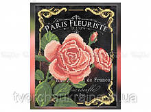 Схема вышивки бисером «Розы винтаж» (A4)