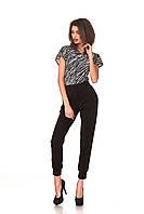 Женские брюки с манжетами. Цвет черный, фото 1