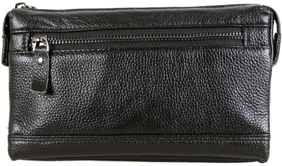 Классный мужской кожаный клатч BLACK005-3 черный