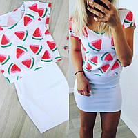 Женская красивая футболка с принтами (3 цвета)