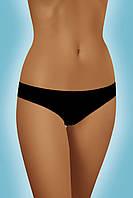 Хлопковые трусики-слипы женские Cindy с бесшовными краями, черные 9301, фото 1
