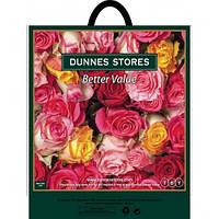 Пакет петлевая ручка 44*44 Розы 25шт/уп