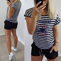 """Женский модный костюм """" Сonverse"""": футболка и шорты , фото 1"""