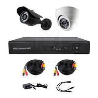 Комплект AHD видеонаблюдения на 1-у уличную и 1-у купольную камеру CoVi Security AHD-11WD KIT