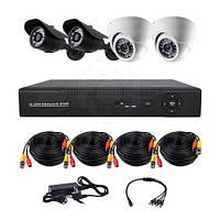Комплект AHD видеонаблюдения на 2-е уличных и 2-е купольных камеры CoVi Security AHD-22WD KIT