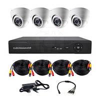 Комплект AHD видеонаблюдения на 4-е купольные камеры CoVi Security AHD-4D