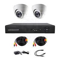 Комплект AHD видеонаблюдения на 2-е купольные камеры CoVi Security AHD-2D KIT