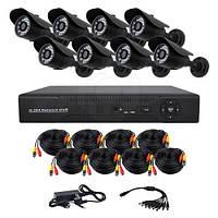 Комплект AHD видеонаблюдения из 8 уличных камер CoVi Security AHD-8W KIT