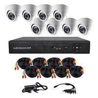 Комплект AHD відеоспостереження на 8-мь купольних камер CoVi Security AHD-8D KIT