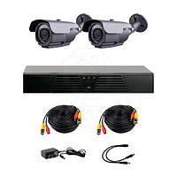 Комплект AHD видеонаблюдения CoVi Security HVK-2004 AHD PRO KIT на 2-е уличные камеры с ИК-подсветкой 60 м