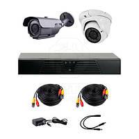 Комплект AHD видеонаблюдения CoVi Security HVK-2005 AHD PRO KIT на 1-у уличную и 1-у купольную камеры