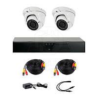 Комплект AHD видеонаблюдения CoVi Security HVK-2006 AHD PRO KIT на 2-е купольные камеры