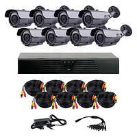 Комплект AHD видеонаблюдения  CoVi Security HVK-4004 AHD PRO KIT из 8 уличных камер с ИК подсветкой 40 м
