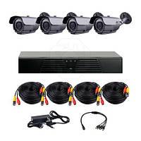 Комплект AHD видеонаблюдения CoVi Security HVK-3004 AHD PRO KIT на 4-е уличные камеры с ИК подсветкой 60 м