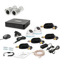 Комплект видеонаблюдения Tecsar AHD 4OUT-MIX LUX