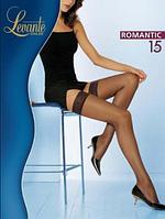 Чулки LEVANTE ROMANTIC 15 (черный, белый. натуральный, цвет загара, кофейный) (2; 3; 4)