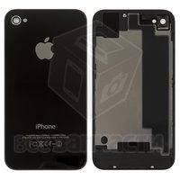Задняя панель корпуса для Apple iPhone 4S, черная, с компонентами, high copy