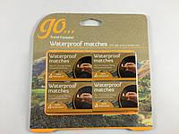 Спички охотничьи GO водоупорные в упаковке 4 коробки ( по 45шт )