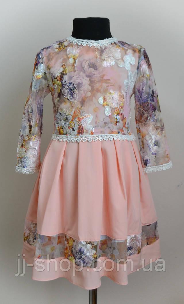 Платье для девочки с кофтой