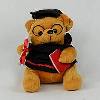 Мягкая игрушка рыжий мишка студент музыкальная