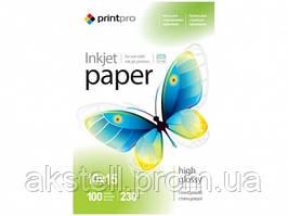 Бумага PrintPro Glossy 230г/м, 10x15, 100л. (PGE2301004R)