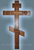 Крест дубовый могильный КРЕСТ РЕЗНОЙ