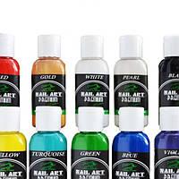 Краска для аэрографа для ногтей PREMIUM* Nail-Art* Water series (набор 8х15ml)