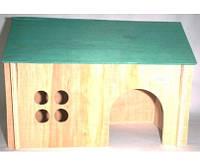 Хатка для морской свинки деревянная 25х16х18
