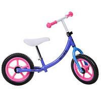 Детский беговел Profi Kids Сиреневый,розовы,голубой расцветки для девочки 12'' (M 3437-6)