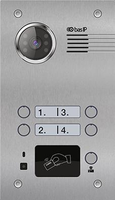 Вызывная Панель на 4 абонента - BAS-IP BA-04