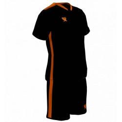 Футбольная форма PRIORITET (черный-н.оранжевый), фото 2