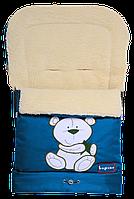 "Зимний конверт-трансформер ""Bepino"" на овчине в коляску и санки"
