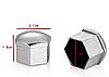 Универсальные заглушки на колесные болты 17 мм. Хром - Фото