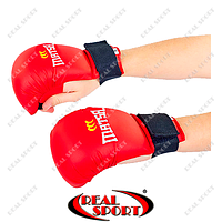 Перчатки для каратэ Matsa BK110029-R (PU, красный, манжет на резинке)