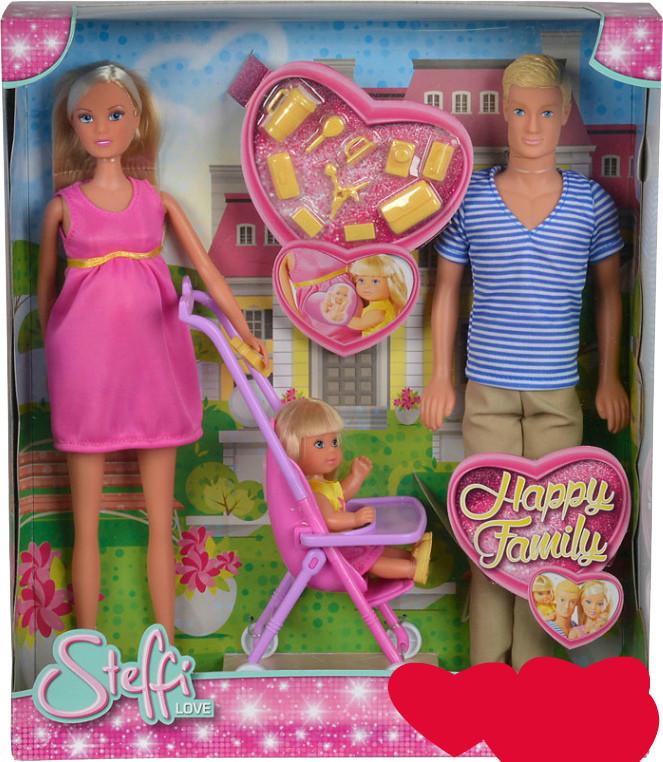 Кукла Штеффи Кевин Еви Счастливая семья Happy Family Steffi Simba 5733200