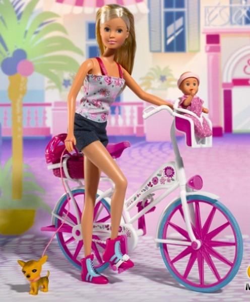 Кукла Штеффи на велосипеде Steffi Simba 5739050