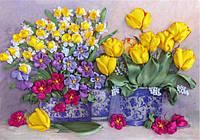 Набор для вышивания лентами Желтые тюльпаны