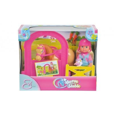 Кукла Еви конюшня с лошадью Evi Simba