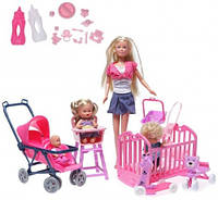 Кукла Штеффи с детьми набор Steffi Simba 5736350
