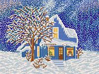 Схема для вышивки бисером Сказочная зима