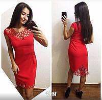 Женское красивое платье с перфорацией (4 цвета), фото 1