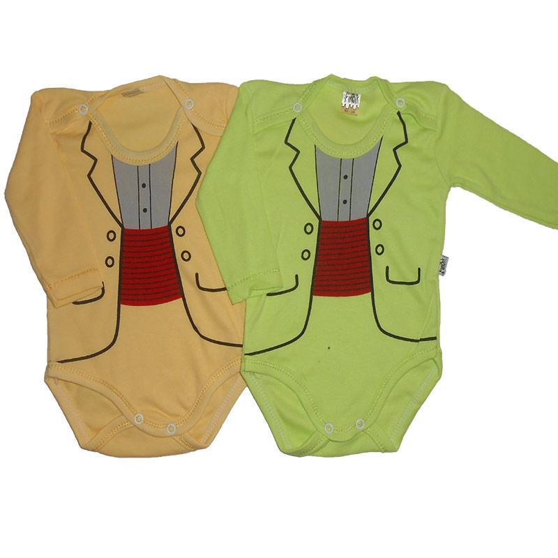 Боди с длинным рукавом 62-80 арт.11187                                                               - Интернет магазин детских товаров «КУЗЯ»  в Виннице